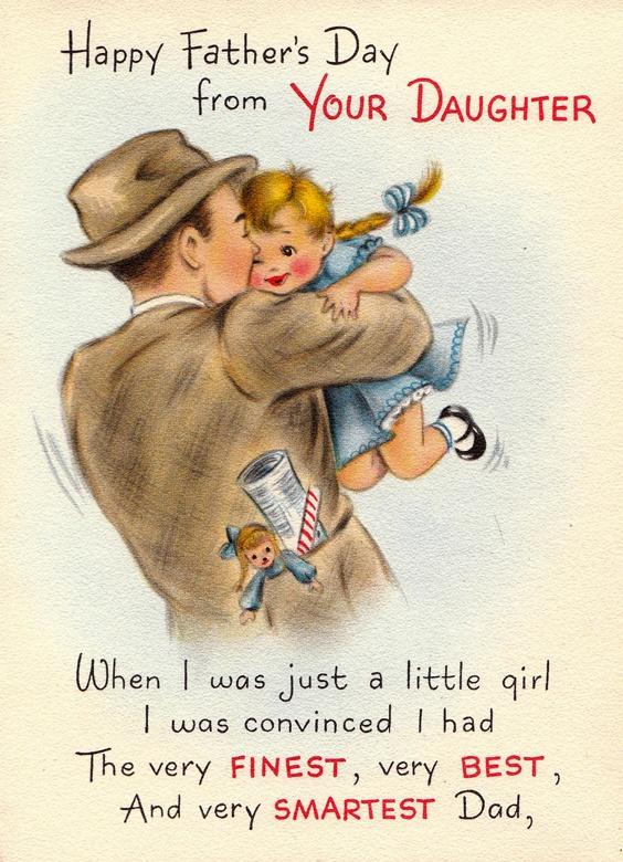 1950s Hallmark Happy Fathers Day card