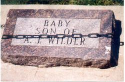 Baby Boy Wilder; Infant son of Almanzo and Laura Ingalls Wilder 01 Aug 1889-12 Aug 1889