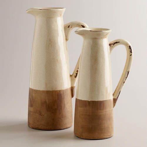 Rustic Pitcher Vase #worldmarketmakeover #spruceupyourspace @Carla Costephens Plus World Market