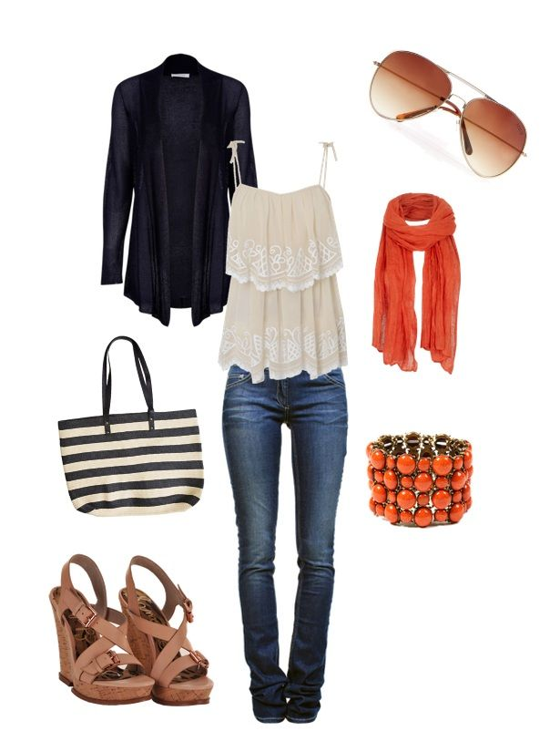 Navy & 2012's Color of the Year, TangerineRed Hair, Closets, Repin By Pinterest, Outfit Tho, 2012 S Colors, Navy 2012 S, Years Tangerine, Fashion Hair Makeup, Summer Ready
