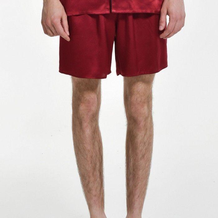 Mens Silk Pajama Shorts Plus Size Sleep Bottoms - OOSilk #silk #sleepwear #nightwear #dressinggown #robe #bathrobe #tops #shorts #pants #trousers #bottoms #pajamas #pjs #set #silky #soft #comfort #breathable #smooth #onlineshopping #man #men #male #gentlemen #sleep #fashion #menfashion