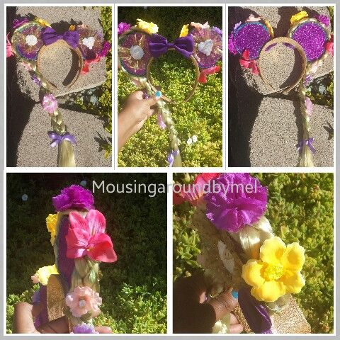 "Custom Minnie mouse ears ""Tangled"". Online at Etsy at MousingAroundByMel for $ 35.00"