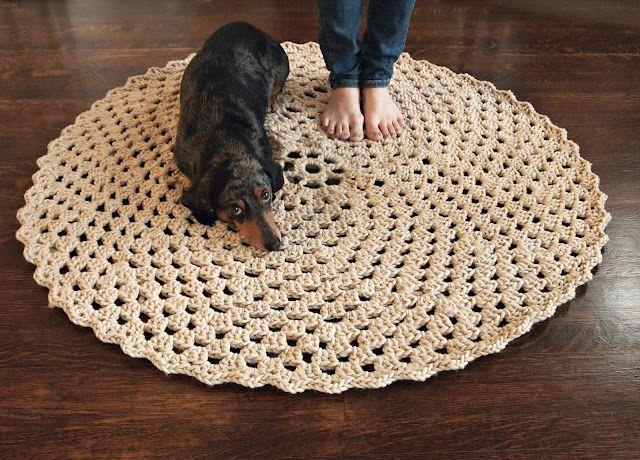 137 best crochet - rugs images on Pinterest   Crochet carpet ...