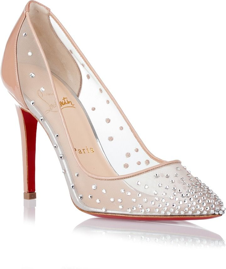 Crystal Christian Louboutin Wedding Shoes