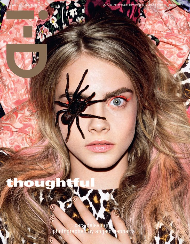 Cara's Best Moments: For her first i-D Magazine cover, Cara Delevingne poses with a creepy crawler at the London Zoo.