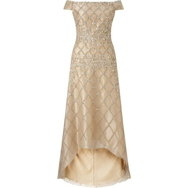 Adrianna Papell Off Shoulder Beaded Organza Gown 3343305 Idr