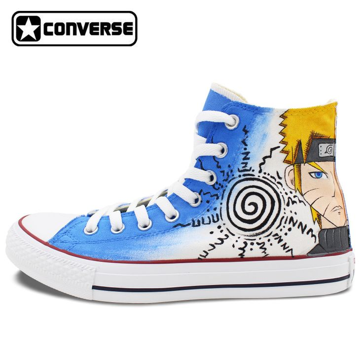 Sneakers Anime Converse Chuck Taylor Men Women Shoes Naruto Uzumaki Gaara Custom Deign Hand Painted Shoes Cosplay Gifts #Affiliate