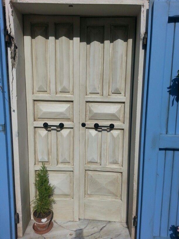 Portone casa vernice per esterni e cera scura vintage