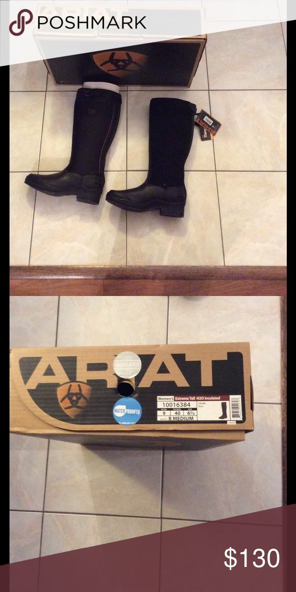 Winter boots Women's waterproof and insulated boots. Brand new with tags still on. Ariat Shoes Winter & Rain Boots
