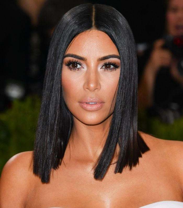 Kim Kw S Hair Journey Is Fearless And That S Why We Re Obsessed Long Bob Haircuts Long Bob Hairstyles Kim Kardashian Short Hair