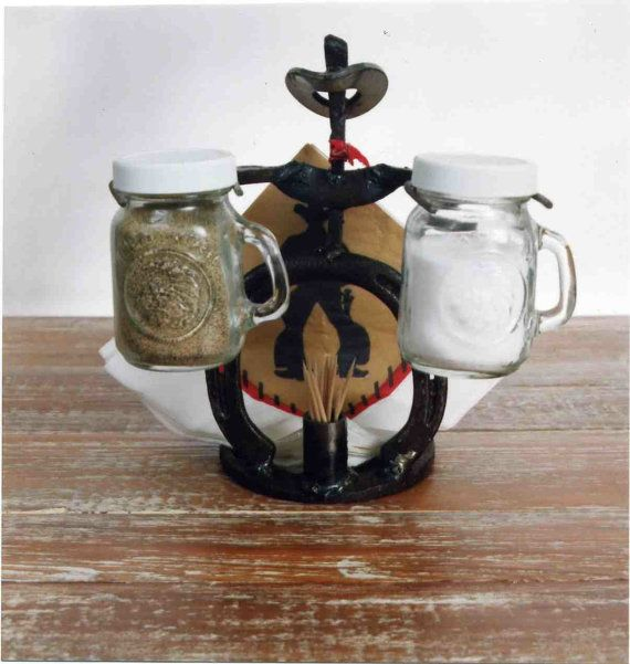 Horseshoe Cowboy Salt And Pepper Napkin And By RockinLDesign, $30.00 Western  Kitchen Decor