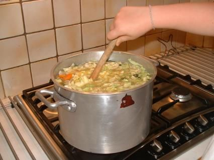 HOTCH POTCH - A recipe traditionally associated with a big pot of food simmering on the fire. This recipe does not contain meat, which was out of the price range of many poorer families, except on special occasions. It is also a dish that was adapted to the seasons and people used what vegetables were available to them..  - Victorian Recipe  (cookit.e2bn.org)