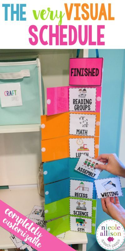 The most visual schedule out there! Perfect for Classroom management and Routine Reinforcements.