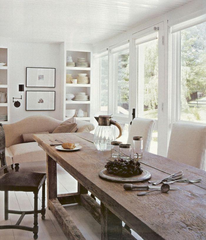 die besten 25 rustikaler esstisch ideen auf pinterest. Black Bedroom Furniture Sets. Home Design Ideas