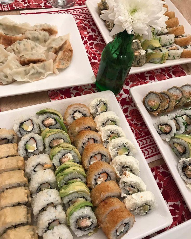 #sushi a la #chilena en #uk para mi hermana embarazada