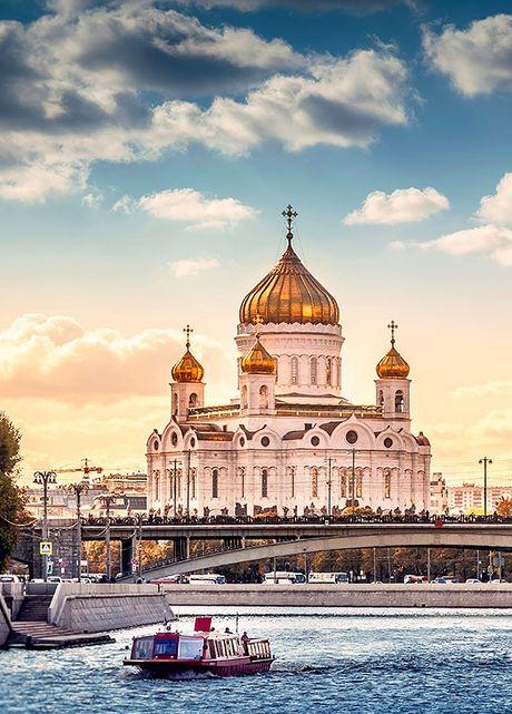 La catedral de Cristo Salvador, Moscú, Rusia. cristianismo ortodoxo