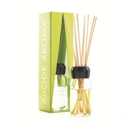 Abode Aroma Neon Diffuser – Lemongrass. A refreshing herbal aroma of lemongrass and basil, enhanced by the scent of wildflowers and cedar. 120ml diffuser.