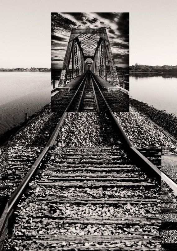 Intersecting Railroads IV  Digital Collage print  by Posterium, $15.00