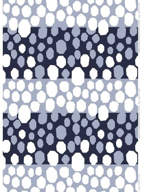 Roustikko (Ice formation), design Paavo Halonen & Hanna-Kaisa Korolainen for Marimekko