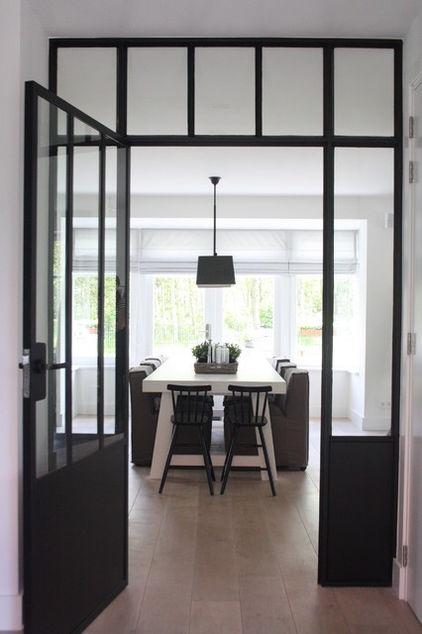 Great windows!!Holly Marder, Doors Design, Dutch Doors, Doors Frames, Iron Doors, Contemporary Entry, Dining Room Design, Steel Windows, Windows Design