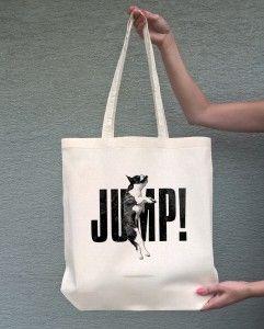 JUMP (torba bawełniana z długim uchem, kolor ecru) - tylko 19,50 PLN