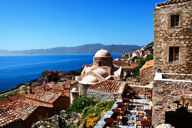 The view from the castle of Monemvasia!