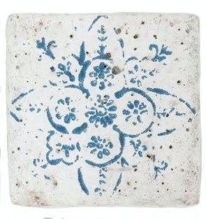 Onderzetter tegel mini steen blauw ,Ib laursen