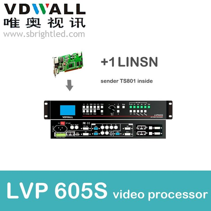 vdwall lvp605S+1 pc linsn sender ts802 video processor scaler PRICE led video wall controller transmitting card le