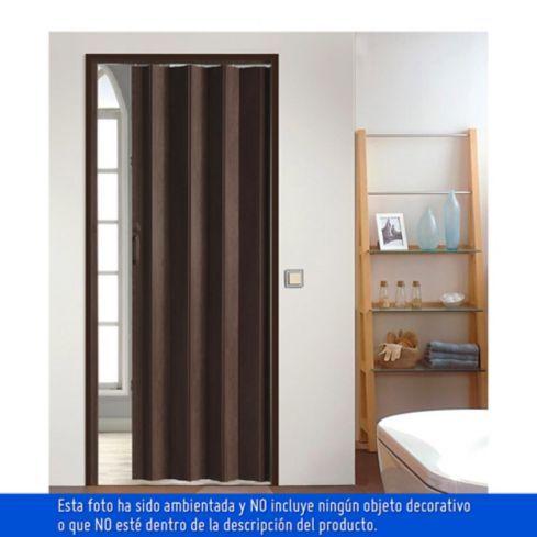 Puerta plegable Pvc milano 90x200cm Noguera con cerradura