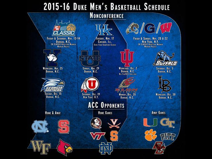 Duke men's bball schedule