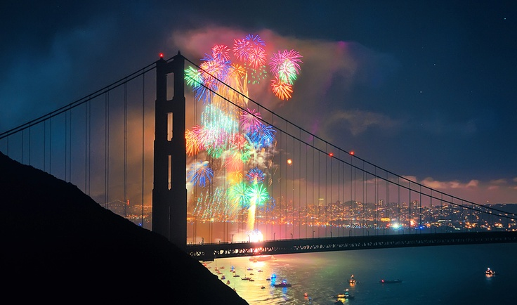 : Buckets Lists, Golden Gates Bridges, Color, The Bays, Sanfrancisco, Fireworks, 4Th Of July, San Francisco, Photography Tutorials