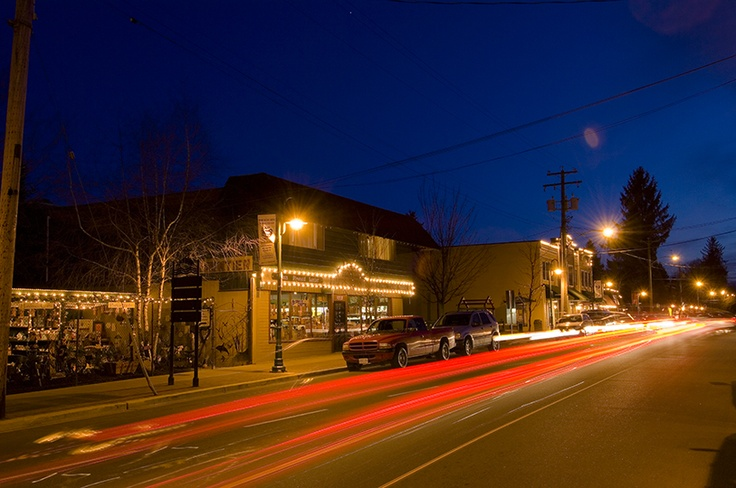 Glover Road at night.