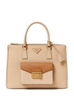 f1d7891ebeae Prada Saffiano Lux L Soft Leather Handbags
