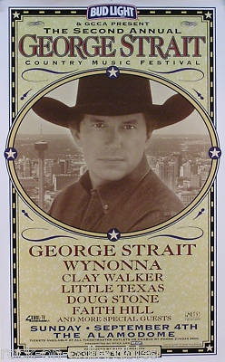 George Strait 1999 2nd Country Music Festival Poster | eBay