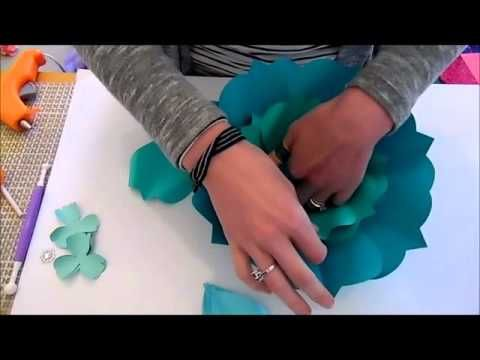 Large Paper flowers- Arielle Style- Medium version - YouTube