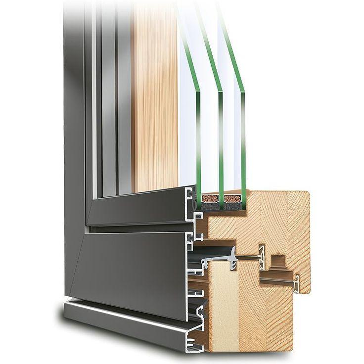 Parallel-Schiebe-Kipp-Tür aus Holz-Alu - Profil ECO Plano
