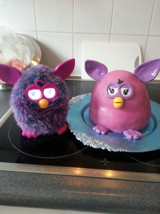 3d furby taart