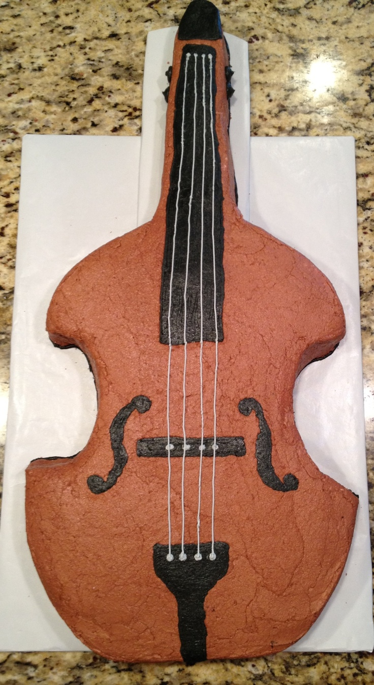 Upright Bass Birthday Cake