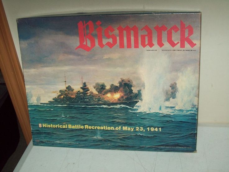 Avalon Hill Bismarck 1941 WW II battle recreation game. never played UNPUNCHED condition - MINT. great addition to your Avalon Hill military game collection. 1979 Jack Greene 1st edition (the 1962 edition was designed by Charles Roberts). | eBay!