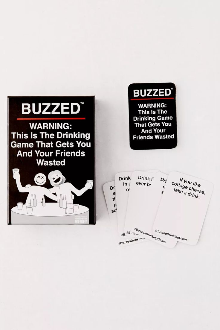 Buzzed card game party card games drinking games for