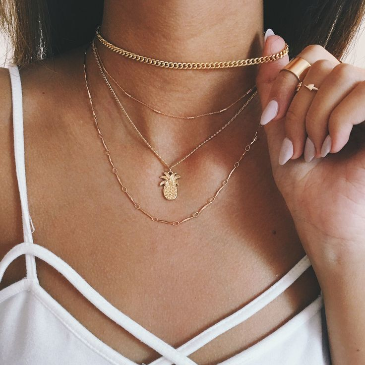 plain chains should never be longer than the longest necklace here