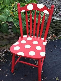 http://staceyembracingchange.blogspot.com/2011/10/polka-dot-chair-sweet-makeover.html