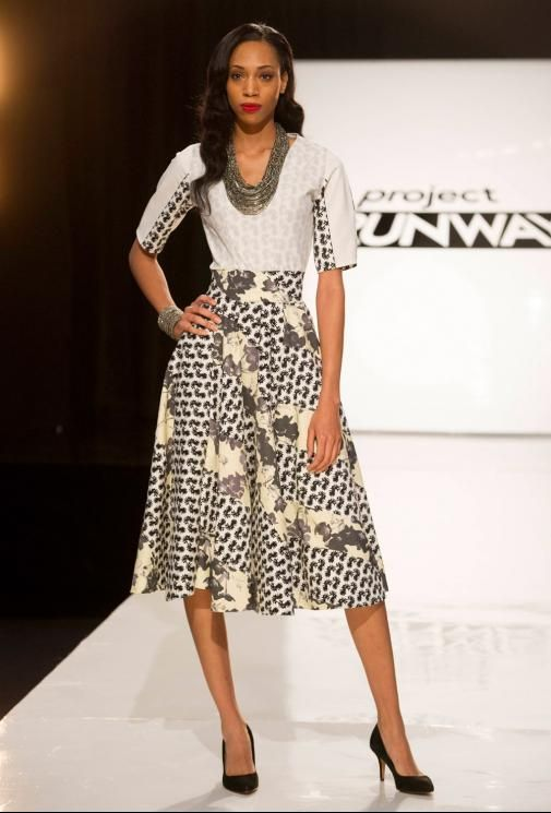 Project Runway Season 13 Rate the Runway fäde zu grau Episode 1 Look I love this dress