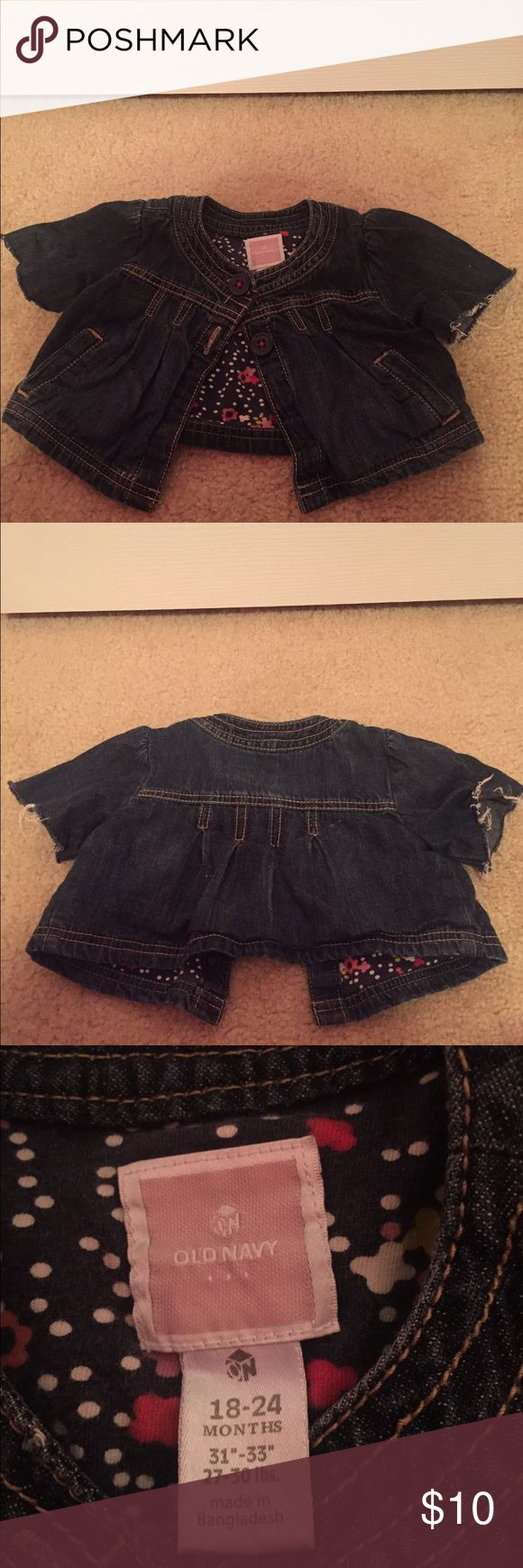 Infant Denim Old Navy Jacket Infant Denim Jacket 18-24 Months. In good condition... Old Navy Jackets & Coats Jean Jackets