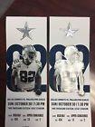 2-Dallas Cowboys vs Philadelphia Eagles Tickets 10/30/16 SEC. 434 seats 1 and 2