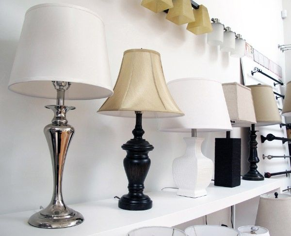 DT Table Lamps All Lined Up In A Row