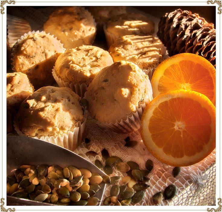 Muffins sans gluten à l'orange et à la citrouille