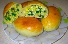 Пышные пирожки с зеленым луком и яйцом | Мой садочек