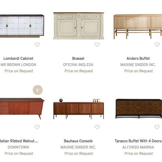 "Our Anders Buffet and Bauhaus Console in ""Sophisticated Sideboards"" on Dering Hall.  interior design, furniture, sideboard, buffet, console, dining room, serving table, scandinavian design, traditional joinery, handmade furniture, hallway, modern, contemporary, transitional design, traditional, high-end, luxury, natural ash, midcentury modern, international style, walnut, made in Chicago, Maxine Snider Inc."