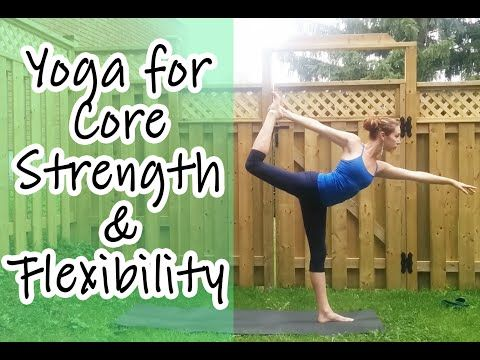 Intermediate Vinyasa Yoga for Core Strength & Flexibility - YouTube #yogawithkassandra